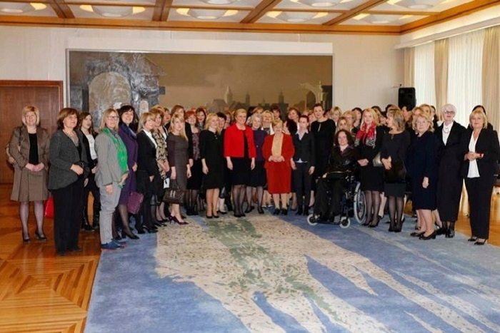 Šuica at reception on womens' issues held by the President of Croatia