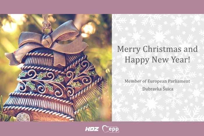 Merry Christmas and Happy New Year from Member of the European Parliament Dubravka Šuica