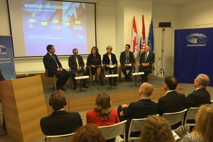 MEP Šuica participates in the conference ˝What does CETA bring? A new dimension of Croatian-Canadian relations˝